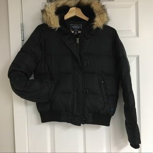 American Eagle down-filled puffer coat, size S.